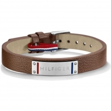 Tommy Hilfiger 2700680 Skinny Brown Leather Bracelet