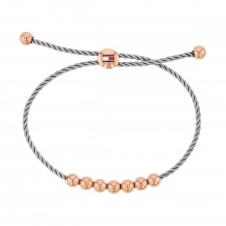 Tommy Hilfiger 2780037 Rose Gold Tone Beaded Friendship Bracelet