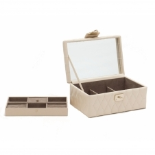 Wolf 329853 Caroline Small Jewellery Case Cream