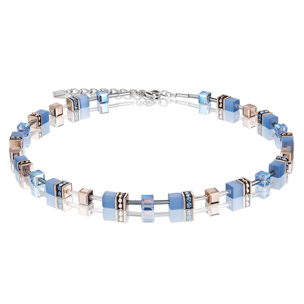 crystal light necklace jewelry en blue