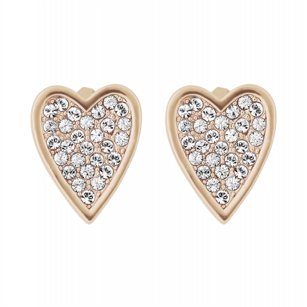 4600fb33cfc24 5303090 Rose Gold Tone Pointed Heart Stud Earrings