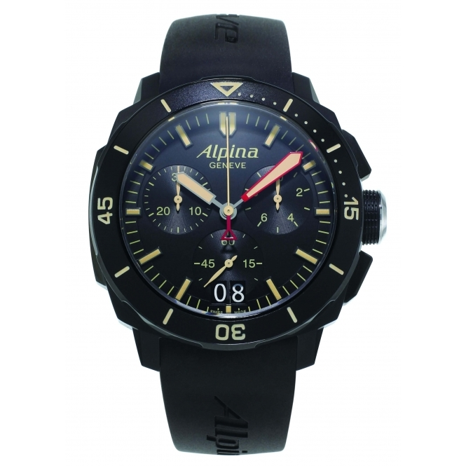 Alpina AL-372LBBG4FBV6 Seastrong Diver 300 Big Date Chronograph Wristwatch