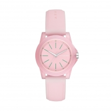 Armani Exchange AX4361 Pink Silicone Strap Resin Case Wristwatch