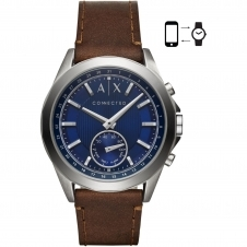 Armani Exchange AXT1010 Brown Leather Band Hybrid Wristwatch