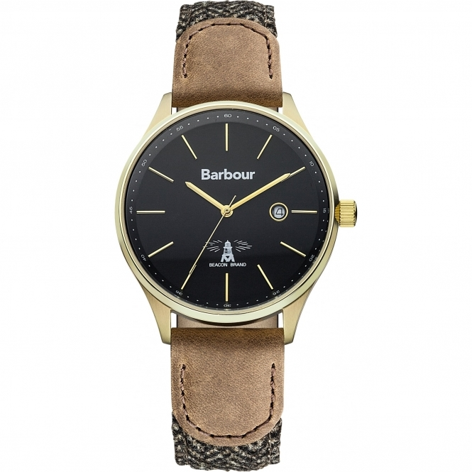 Barbour BB021GDHB Men's Glysdale Brown Leather Wristwatch