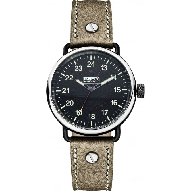 Barbour BB022BKBR Men's International Fowler Brown Leather Strap Wristwatch