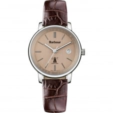 Barbour BB032SLBR Women's Holywell Brown Leather Strap Wristwatch