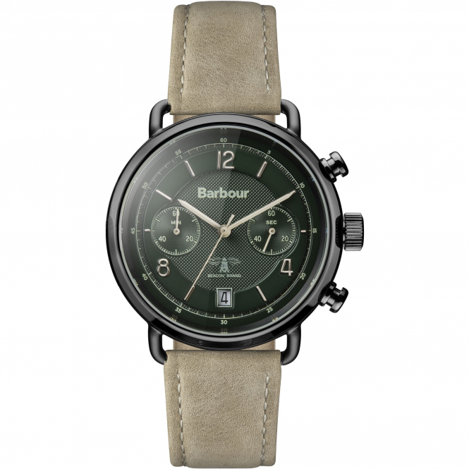 Barbour BB053GRKH Men's Salisbury Khaki Strap Wristwatch