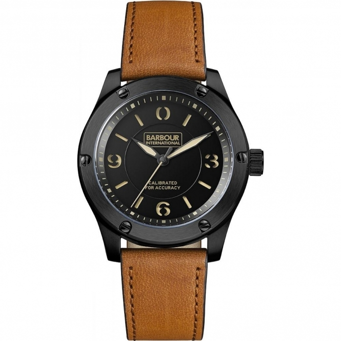 Barbour BB063BKTN Men's Hartford Wristwatch