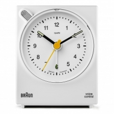 Braun BNC004WHWH Classic Voice Activated Alarm Clock White