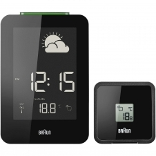 Braun BNC013BK-RC Digital Global Radio Controlled Weather Station Clock