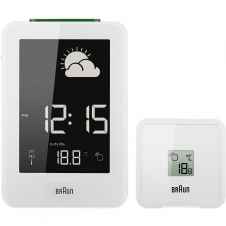Braun BNC013WH-RC Digital Global Radio Controlled Weather Station Clock