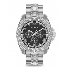 Bulova 96C126 Men's Crystals Collection Wristwatch