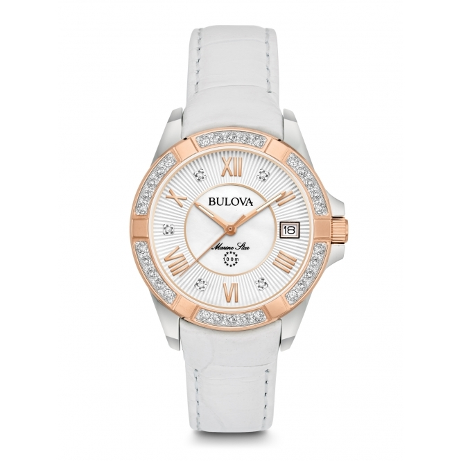 Bulova 98R233 Women's Marine Star Diamond Wristwatch
