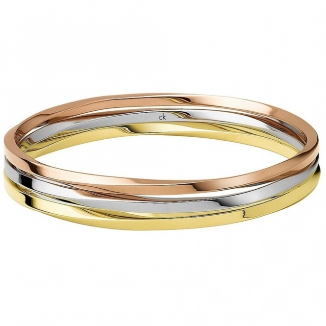 Calvin Klein KJ0KDD30010S Exclusiv Tri-Colour Bangle