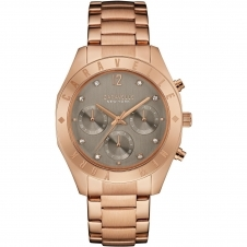 Caravelle New York 44L190 Women's' Rose-Gold Tone Chronograph Wristwatch