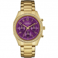 Caravelle New York 44L197 Ladies' Gold Tone Chronograph Watch