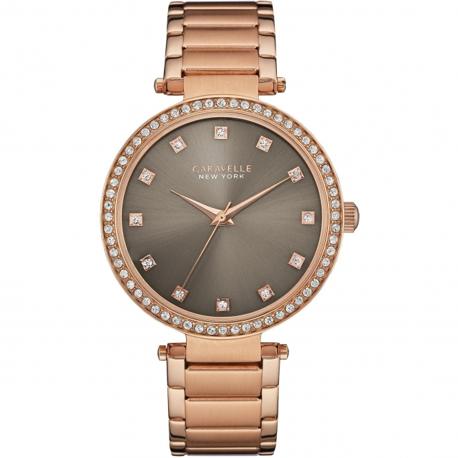 Caravelle New York 44L211 Ladies' Crystal Watch