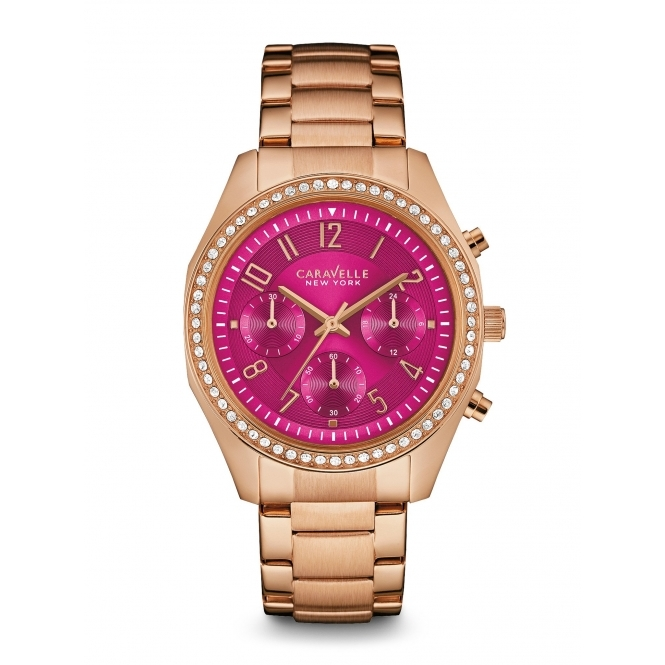 Caravelle New York 44L223 Ladies' Chronograph Wristwatch