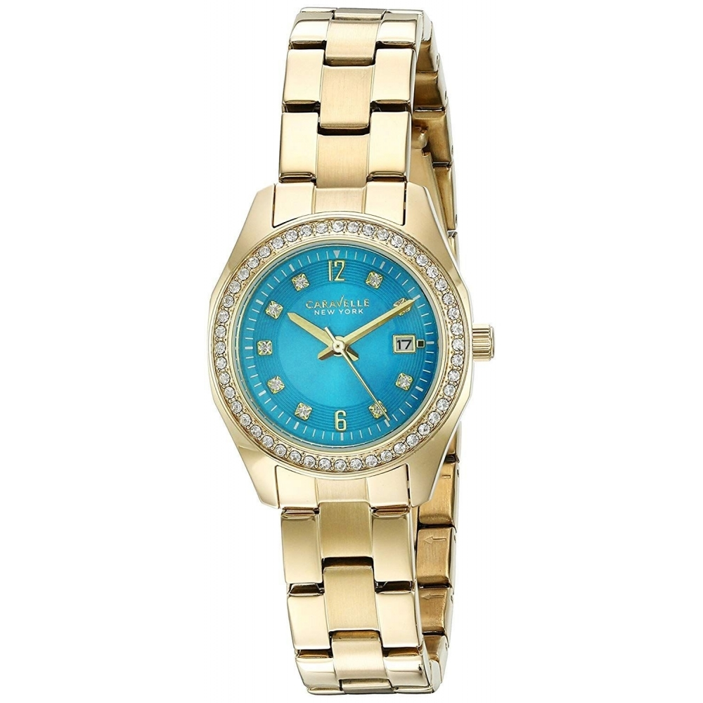 350523de824d4 Caravelle New York Caravelle New York 44M109 Ladies  Gold Tone Stone Set  Wristwatch