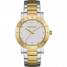Caravelle New York 45L151 Women's Two Tone Stone Set Wristwatch