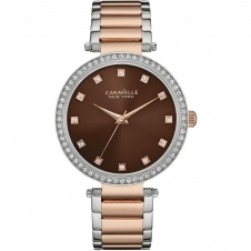Caravelle New York 45L152 Ladies' Two Tone Crystal Watch