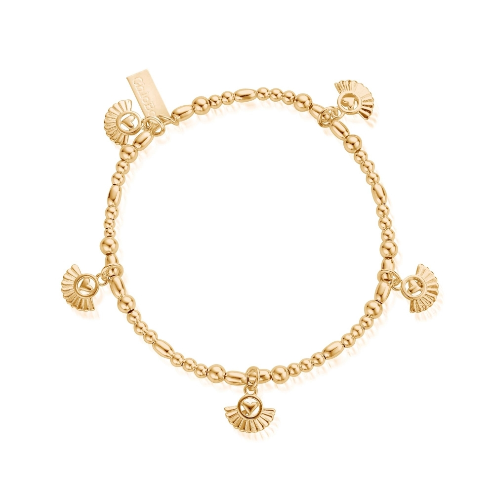 Gbmcmulfh Women S Gold Tone Real Love Bracelet