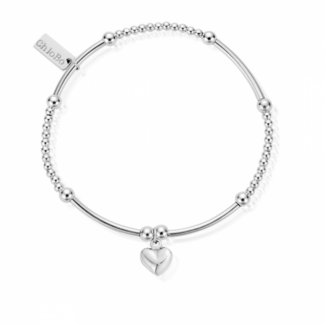 ChloBo SBCM023 Women's Cute Mini Puffed Heart Bracelet