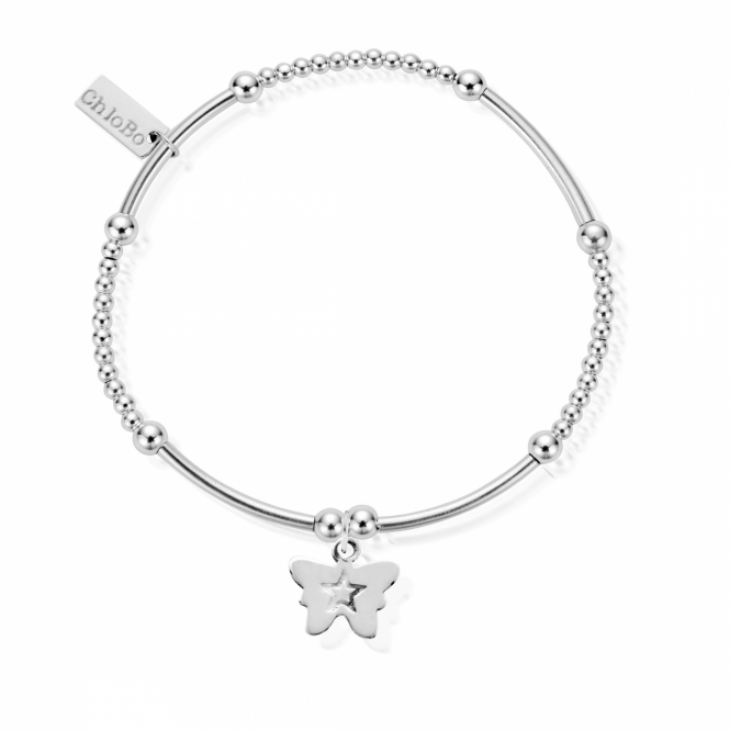 ChloBo SBCM408 Women's Cute Mini Butterfly Bracelet