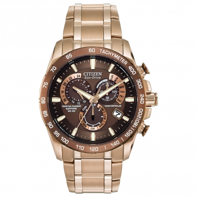 Citizen AT4106-52X Perpetual Chrono A-T Radio Controlled Eco-Drive