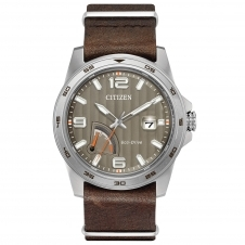 Citizen AW7039-01H Men's Power Reserve Eco-Drive Wristwatch
