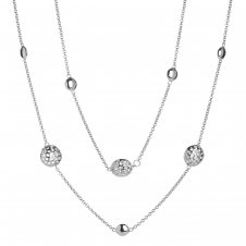Rachel Galley D101-SV Women's Memento Disc Long Line Necklace