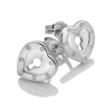 Hot Diamonds DE527 Lock In Love Open Stud Earrings
