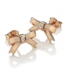 Hot Diamonds DE537 Ribbon Stud Earrings