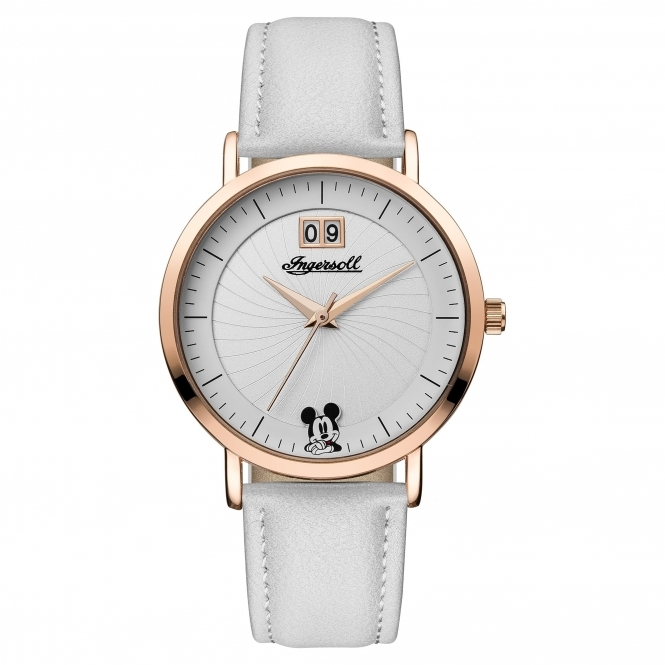 Disney By Ingersoll ID00502 Women's White Strap Wristwatch
