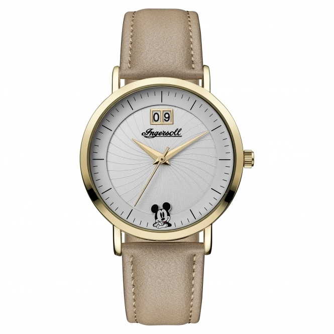 Disney By Ingersoll ID00503 Women's Beige Strap Wristwatch