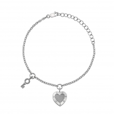 Hot Diamonds DL561 Lock In Love Beaded Bracelet