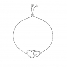 Hot Diamonds DL569 Bliss Interlocking Hearts Draw Bracelet
