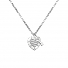 Hot Diamonds DP654 Lock In Love Beaded Pendant