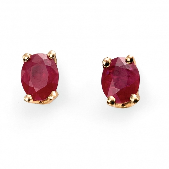 Elements Gold GE772R Women's Ruby Set Earrings