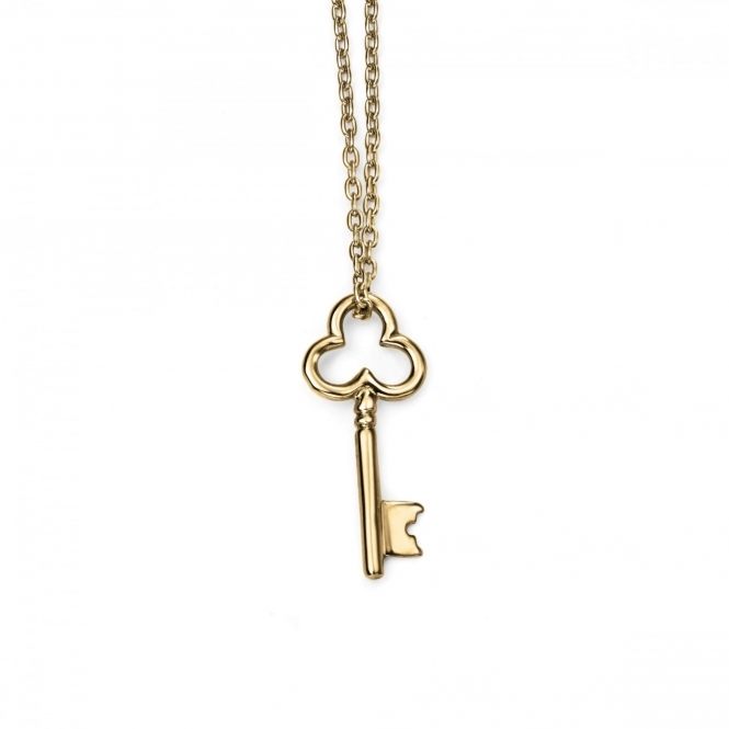Elements Gold GN225 Yellow Gold Key Necklace
