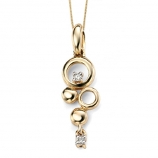 Elements Gold GP886 GN202 Diamond Set Pendant On A Yellow Gold Chain