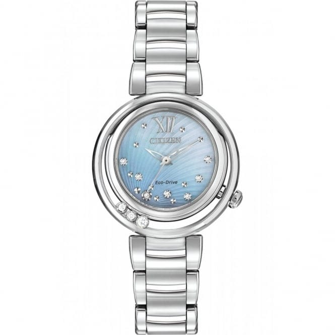 EM0320-59D Women's Sunrise Eco-Drive Diamond Wristwatch