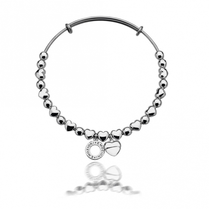 Emozioni DC094 Silver Plate Heart Bangle