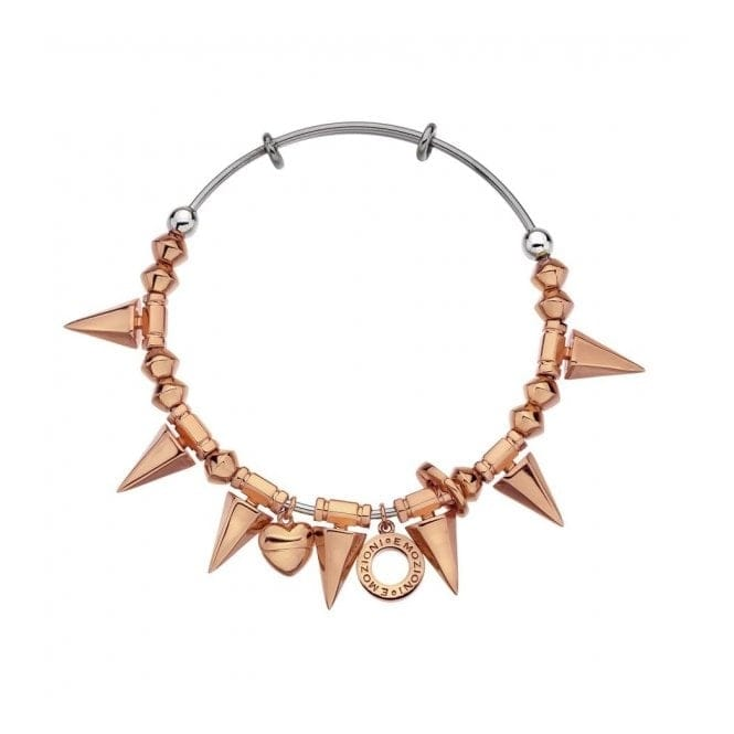 Emozioni DC149 Rose Gold Tone Spike Bangle