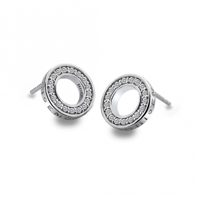Emozioni DE408 Sterling Silver Saturno Earrings