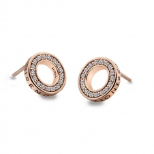 Emozioni DE409 Rose Gold Tone Saturno Earrings