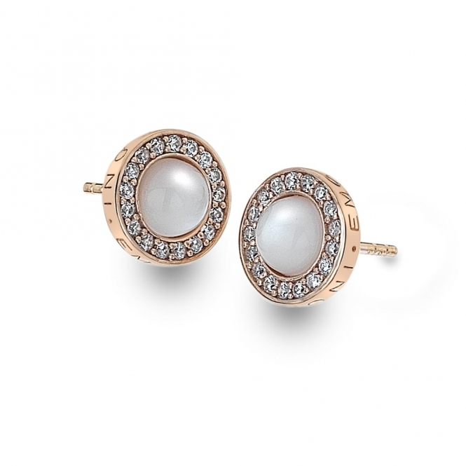 Emozioni DE461 Giove Pearl Sterling Silver Earrings