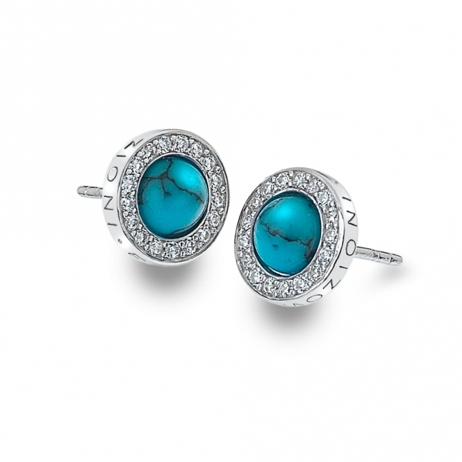 Emozioni DE462 Giove Turquoise Sterling Silver Earrings
