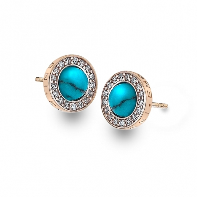 Emozioni DE463 Giove Turquoise Sterling Silver Earrings